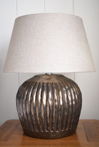 Metallic Bronze Ceramic Table Lamp