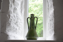 Load image into Gallery viewer, Large Green Glazed Pottery Vase