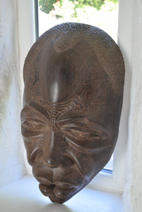 Large Hardwood Tribal Mask