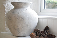 Load image into Gallery viewer, Large White Stone Effect Ceramic Pot
