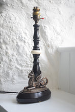 Load image into Gallery viewer, Ebonised Griffin Table Lamp
