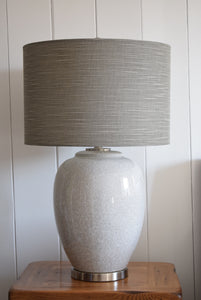 Large Ceramic Crackle Glazed Lamp