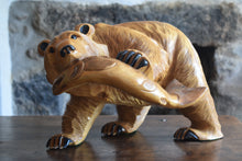 Load image into Gallery viewer, Carved Wooden Brown Bear