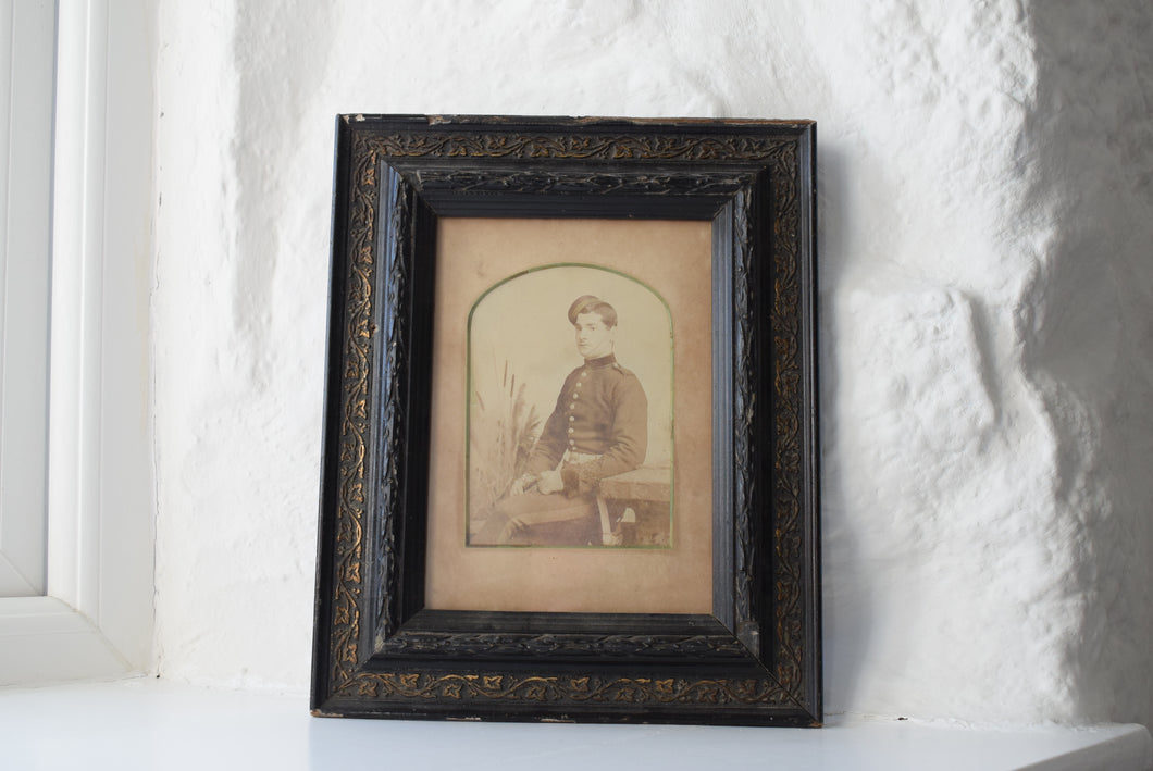 Duke of Cornwall Light Infantry Soldier Framed Photograph