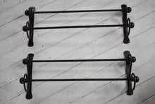 Load image into Gallery viewer, Antique pair of wrought Iron Towel Rails