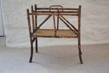 Load image into Gallery viewer, Antique Bamboo Magazine Rack