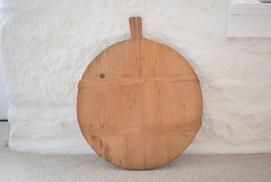 Vintage Round French Breadboard Made From Pine