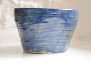Blue Glazed Studio Pottery Bowl