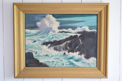 Painting Breaking Wave St Ives