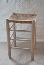 Load image into Gallery viewer, Lime-washed Pine Stool
