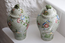 Load image into Gallery viewer, Green Copeland Spode Vases