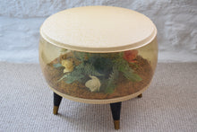Load image into Gallery viewer, Vintage 1960s Inflatable Pouffe with Floral Interior