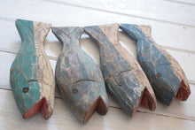 Load image into Gallery viewer, Vintage Hand Carved Painted Wooden Fish