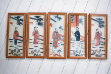 Load image into Gallery viewer, Vintage Japanese Eglomise Reverse Painted Glass Pictures