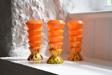 Load image into Gallery viewer, Orange blown glass vases
