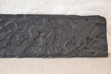 Load image into Gallery viewer, Antique Carved Oak Wood Panel Battle Scene