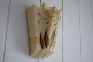 Deco period wall pocket