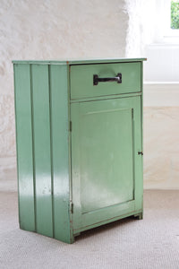 Vintage Original Green Painted Kitchen Cupboard