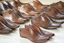 Load image into Gallery viewer, Unique Collection of 12 Vintage Wooden Shoe Lasts