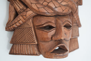 Vintage Large Carved Wooden Mask South American