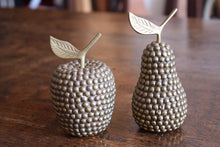 Load image into Gallery viewer, Vintage Brass Studded Apple & Pair Faux Fruit Display