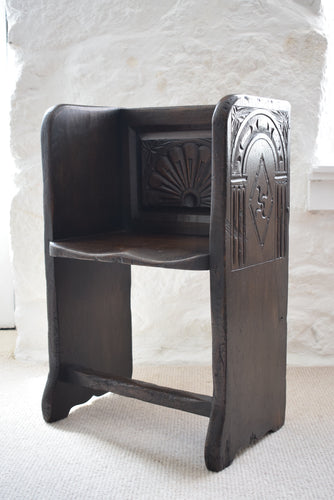 Oak Single Church Pew