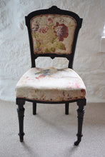 Load image into Gallery viewer, Antique 19th Century Ebonised Bedroom Chair