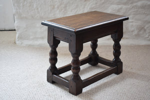 Small Antique Early 19th Century Oak Peg Jointed Side Table
