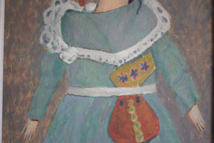 Oil Painting Doll Wearing a Green Dress