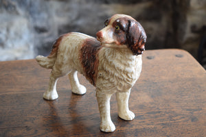 Large Vintage Heavy Cast Iron Spaniel Door Stop