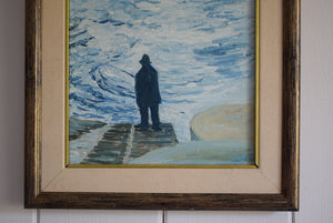 The Old Fisherman Oil on Canvas