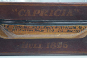"Antique Half Hull Model ""Caprica"" 1896"