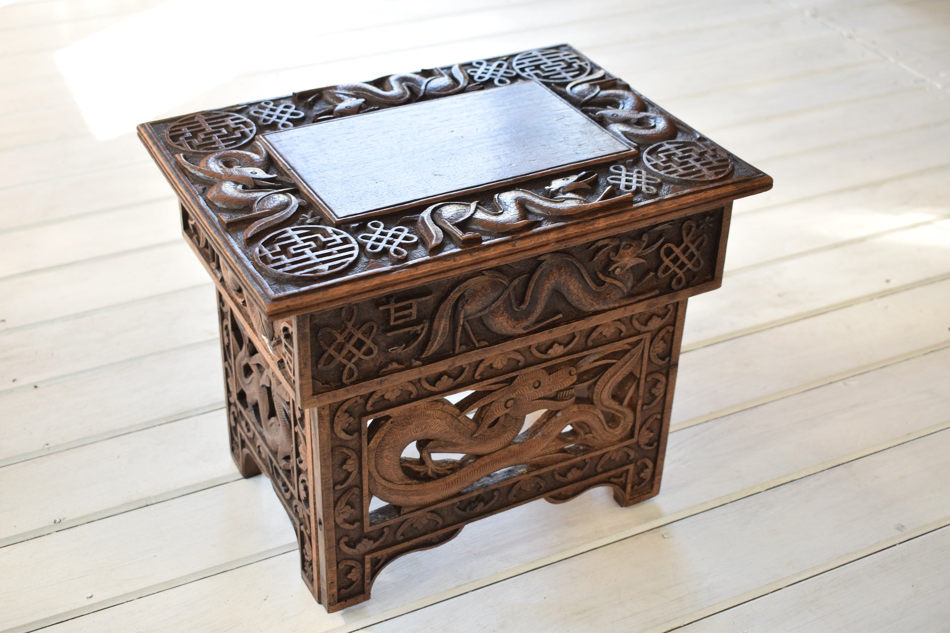 Pleasing Antique Chinese Carved Wooden Folding Stool Creativecarmelina Interior Chair Design Creativecarmelinacom