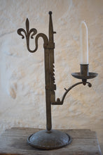Load image into Gallery viewer, Antique Wrought Iron Adjustable Candlestick