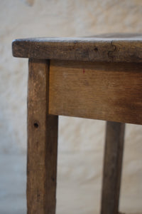 Antique Rustic Pine Workshop Farmhouse Stool