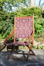 Load image into Gallery viewer, Victorian Carpet Upholstered Folding Deckchair