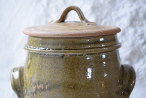 Stoneware  Lidded Storage Jar