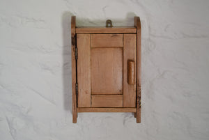 Small Antique Country Made Pine Cupboard