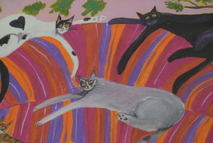 original cat painting by Ponckle