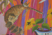 Load image into Gallery viewer, original cat painting by Ponckle