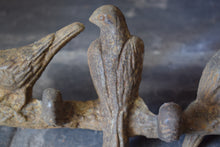 Load image into Gallery viewer, Antique Cast Iron Birds on Branch Coat Hook Bar