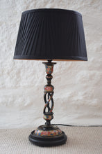 Load image into Gallery viewer, Vintage Hand Painted Kashmiri Table Lamp