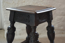 Load image into Gallery viewer, Oak Elizabethan Style Joint Stool