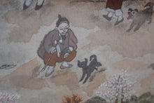 Load image into Gallery viewer, Framed Chinese Watercolour on Pith Paper Village Scene Signed