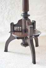 Load image into Gallery viewer, 19th Century Carved Oak Tilt Top Side Table with Stylised Dragons