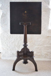 19th Century Carved Oak Tilt Top Side Table with Stylised Dragons