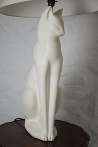 White Cat Table Lamp