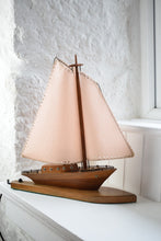 Load image into Gallery viewer, Wooden Sailing Boat Table Lamp