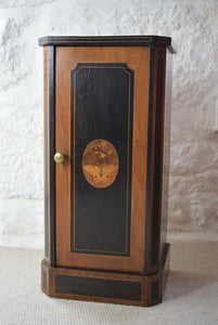 Ebonised Cupboard With Butterfly Decoration