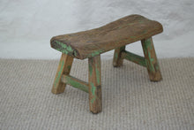 Load image into Gallery viewer, Small antique Milking Stool in Original Green Paint